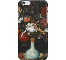 Ambrosius Bosschaert the Elder (Antwerp  The Hague), Still life of roses, marigolds, aquilegia, violets,. iPhone Case/Skin