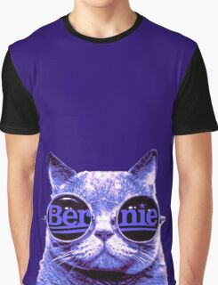 Solo Purple Cat 4 Bernie Graphic T-Shirt