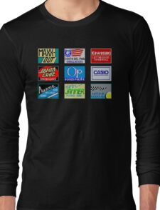 CALIFORNIA GAMES SPONSORS - MASTER SYSTEM  Long Sleeve T-Shirt