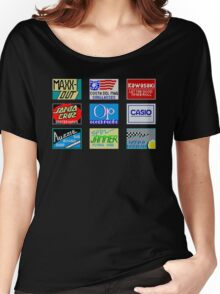 CALIFORNIA GAMES SPONSORS - MASTER SYSTEM  Women's Relaxed Fit T-Shirt