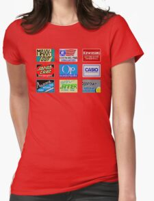 CALIFORNIA GAMES SPONSORS - MASTER SYSTEM  Womens Fitted T-Shirt