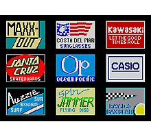 CALIFORNIA GAMES SPONSORS - MASTER SYSTEM  Photographic Print