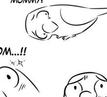 Separation anxiety on pet birds - Mom version Sticker