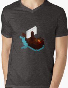 Lonley Ship Mens V-Neck T-Shirt