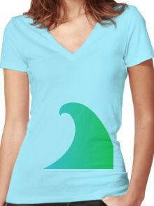 Surf's Up! Women's Fitted V-Neck T-Shirt