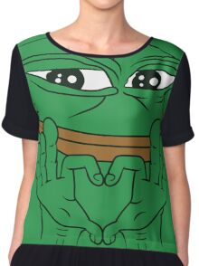 """Pepe The Frog """"I Love YOU & you KNOW"""" Chiffon Top"""