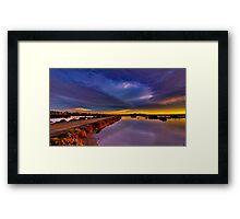 """Tempestuous Avalon Dawn"" Framed Print"