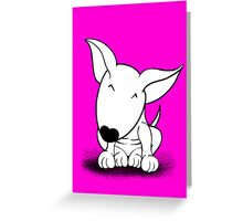 Cute English Bull Terrier  Greeting Card