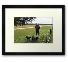 Jimmy and 'The Pack' Framed Print