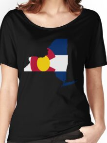I Live in New York but I Was Born in Colorado Women's Relaxed Fit T-Shirt
