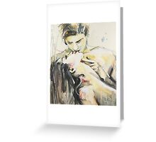 Two Lovers Met In May Greeting Card