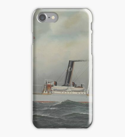 Antonio Jacobsen - 'Olympia' Steamship,  iPhone Case/Skin