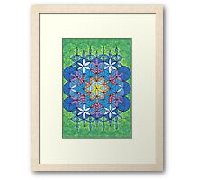 1207 - Circle Rectangle Before Green and Snowy Framed Print