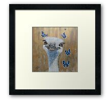 Face the reality Framed Print
