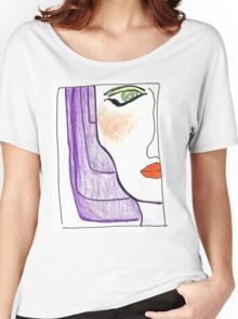 Demi-Face in Purple Women's Relaxed Fit T-Shirt