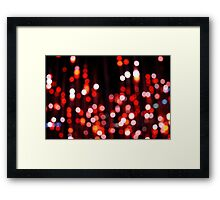 Shimmering Red Framed Print