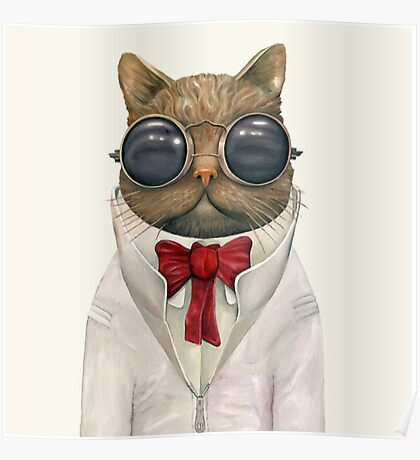 Classy Cat Poster