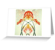 art noveau flowers Greeting Card
