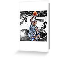 Kevin Garnett Dunk Greeting Card
