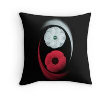 POPPIES ~ PEACE & REMEMBRANCE GO TOGETHER UNITED WE STAND  - THROW PILLOW Throw Pillow