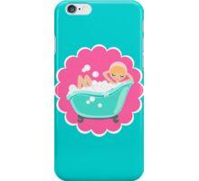 Bubble Girl on Flower iPhone Case/Skin