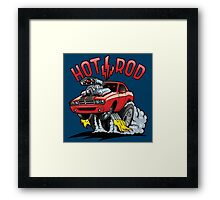 Hot Rod, Jumping Sport Car Framed Print