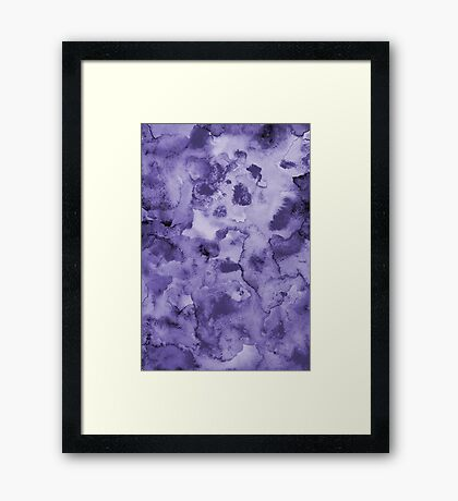 Ink watercolor texture Framed Print