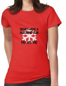 Die Hard - Now I Have A Machine Gun Ho Ho Ho Womens Fitted T-Shirt