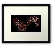 Who's nuts? Framed Print