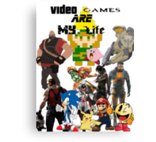 Video Games Canvas Print