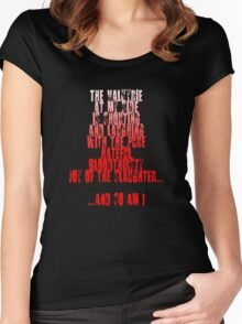 Sin City - The Valkyrie at my side is shouting and laughing with the pure, hateful, bloodthirsty joy of the slaughter... and so am I. Women's Fitted Scoop T-Shirt