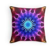 Light Lines Kaleidoscope 02 Repeat Pattern Throw Pillow Co-ordinate Throw Pillow