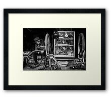 The Bicycle Man #0102 Framed Print