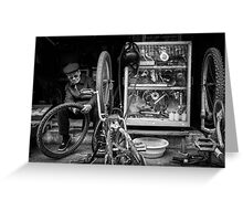 The Bicycle Man #0102 Greeting Card