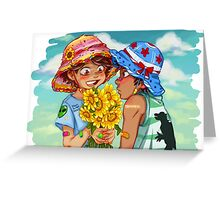 Sunflowers and Boys Greeting Card