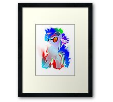 Rainbow Dash PON3 Design Framed Print