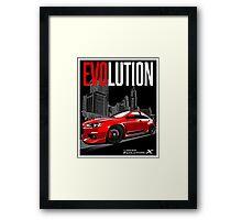 LANCER EVO X Framed Print