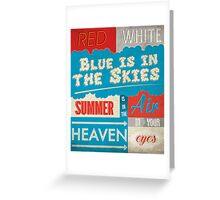 Summertime Sadness Greeting Card