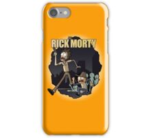 Rick and Morty/ The Walking Dead crossover iPhone Case/Skin