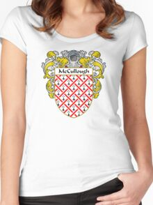 McCullough Coat of Arms/Family Crest Women's Fitted Scoop T-Shirt