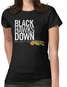Blackhawks down - dark version Womens Fitted T-Shirt