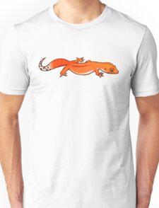 Fastwalking Tangerine Leopard Gecko Unisex T-Shirt