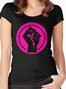 Hot Pink Fist Women's Fitted Scoop T-Shirt