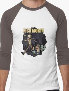 Rick and Morty/ The Walking Dead crossover Men's Baseball ¾ T-Shirt