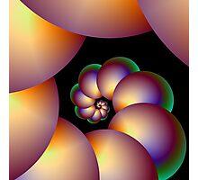 Infinite Spiral Beads Photographic Print