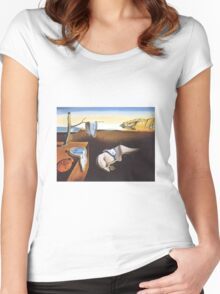 The Persistence of Memory by  Salvador Dali  Women's Fitted Scoop T-Shirt