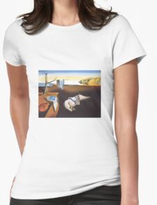 The Persistence of Memory by  Salvador Dali  Womens Fitted T-Shirt