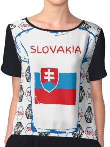 A soccer ball and a Slovakia flag. Chiffon Top