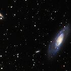 Spiral Galaxy M106 by Utopie