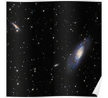 Spiral Galaxy M106 Poster
